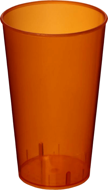 Arena Plastic Tumbler Transparent Orange - Totally Branded