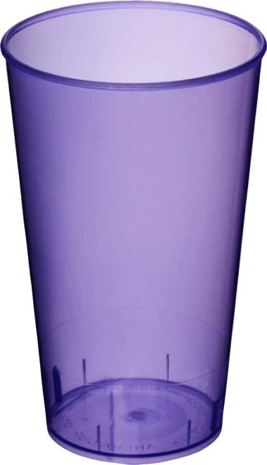 Arena Plastic Tumbler Transparent Purple - Totally Branded