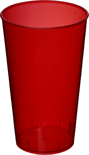Arena Plastic Tumbler Transparent Red - Totally Branded