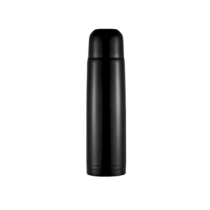 Branded Stainless Steel Flask Black - Totally Branded