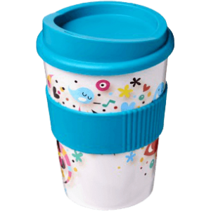 Brite-Americano® Medio 300ml Tumbler with Grip Aqua - Totally Branded