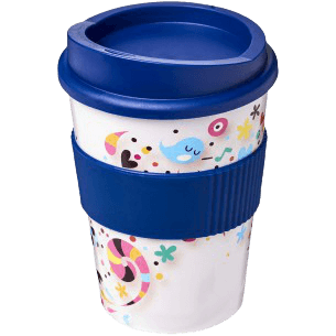 Brite-Americano® Medio 300ml Tumbler with Grip Blue - Totally Branded