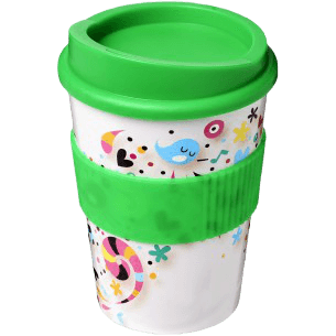 Brite-Americano® Medio 300ml Tumbler with Grip Green - Totally Branded