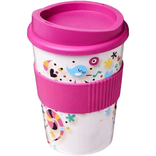 Brite-Americano® Medio 300ml Tumbler with Grip Pink - Totally Branded