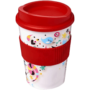 Brite-Americano® Medio 300ml Tumbler with Grip Red - Totally Branded