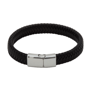 Engraved PU Cord Effect Bracelet Closed - Totally Branded