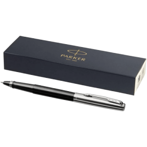 Jotter Plastic with Stainless Steel Rollerball Pen Black - Totally Branded
