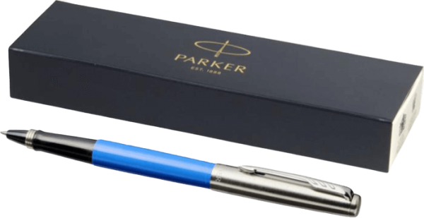 Jotter Plastic with Stainless Steel Rollerball Pen Blue - Totally Branded