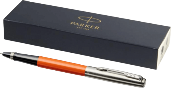 Jotter Plastic with Stainless Steel Rollerball Pen Orange - Totally Branded