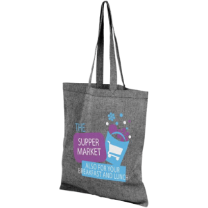 Pheebs Recycled Cotton Tote Bag Black - Totally Branded