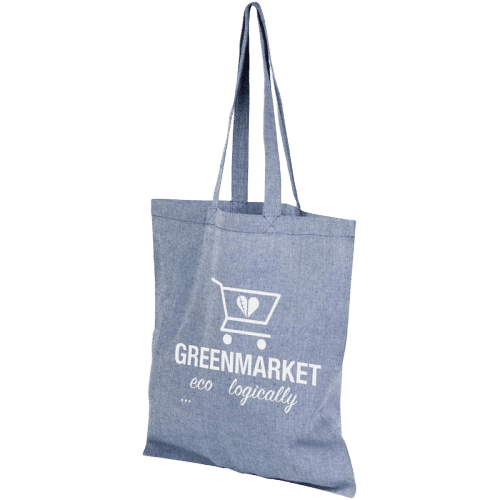 Pheebs Recycled Cotton Tote Bag Blue - Totally Branded