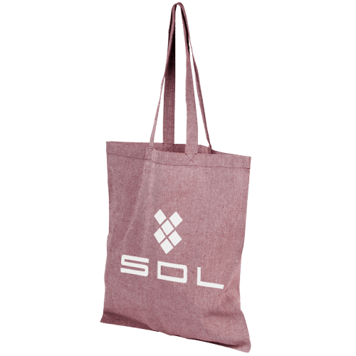 Pheebs Recycled Cotton Tote Bag Maroon - Totally Branded