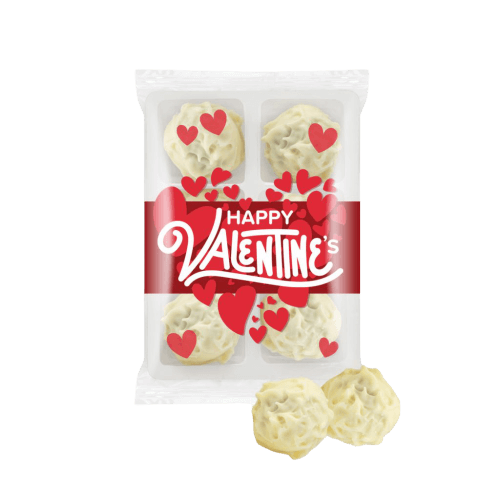 Valentine's Day White Chocolate Champagne Spheres - Totally Branded