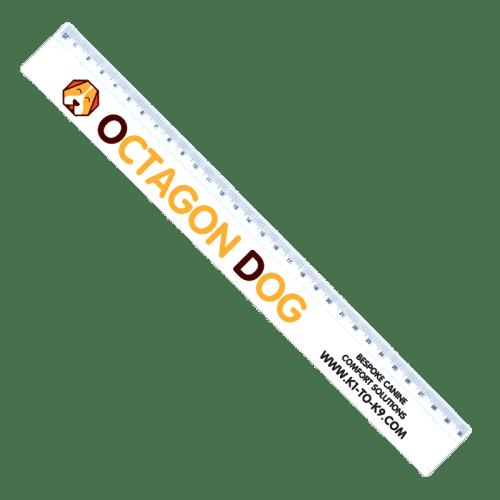 30cm Ruler White - Totally Branded