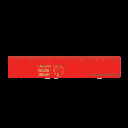 Coloured 15cm Ruler Red - Totally Branded