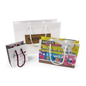 White Kraft Exhibition Gift Bags - Totally Branded