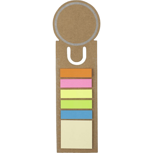Bookmark and Sticky Notes Brown - Totally Branded