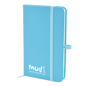 Branded A6 Mole Notebook Blue - Totally Branded