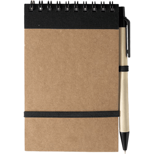 Branded Recycled Notebook Black - Totally Branded