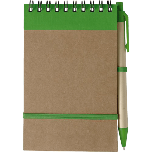 Branded Recycled Notebook Green - Totally Branded