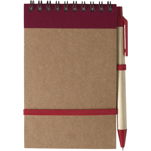 Branded Recycled Notebook Red - Totally Branded
