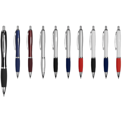 Curvy Metal Ball Pen Colours - Totally Branded