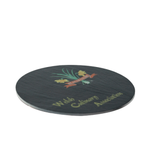Round Slate Coaster (10cm) - Totally Branded