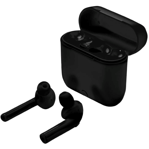 Wireless Auto Pair Earbuds With Case Black - Totally Branded