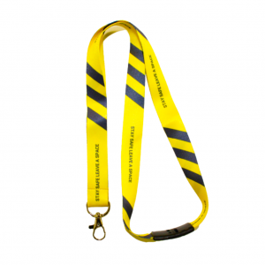 Social Distance Awareness Lanyards - Totally Branded