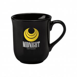 Branded Black Bell Mug