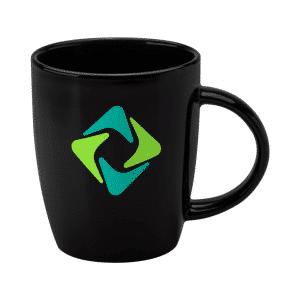 Printed Darwin Black Mugs - Totally Branded