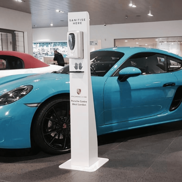 Porsche-Branded-Automatic-Hand-Sanitiser-Stations