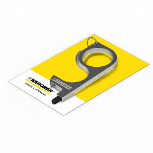 Promotional Metal Hygiene Key rings with Printed Backing Card