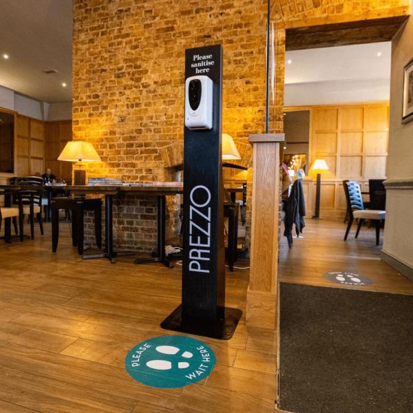 Restaurant Branded Sanitiser Dispenser