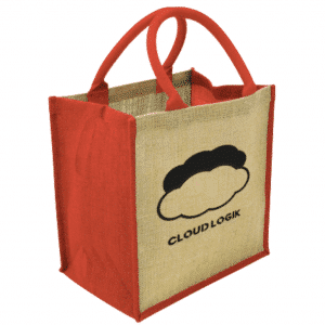 Eco Friendly Coloured Edge Jute Bag