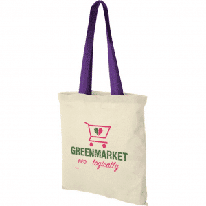 Coloured Handles Promotional Tote Bag