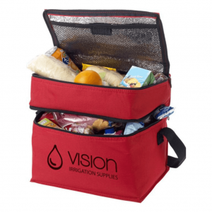 Two Zip Compartments Cooler Bag