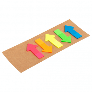 branded-arrow-shaped-sticky-notes