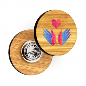 bamboo clutch pin badges