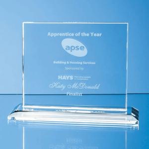 Clear Glass Horizontal Award