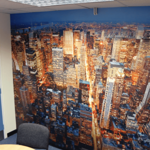 Full Colour Printed Wallpaper in the office