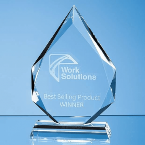 Glass Facetted Diamond Peak Award