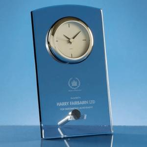 Glass Rectangular Desk Clock