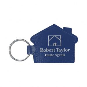 Leather House Shaped Keyfob