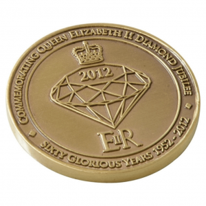 Stamped Iron Coin Badge