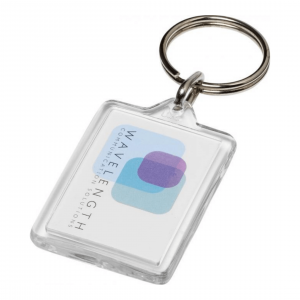 branded-clear-rectangular-keyring