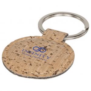 branded-cork-look-round-keyring