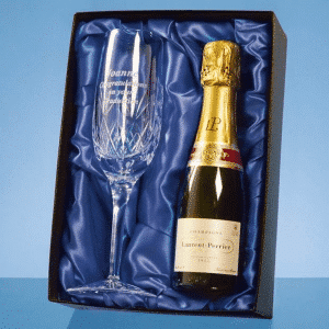 branded Blenheim Single Goblet Gift Set with a 18.7cl Bottle of Red Wine
