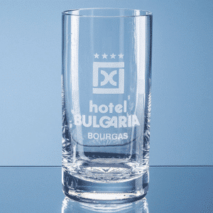 Branded 400ml Grosvenor Lead Crystal High Ball with Star Cut Base