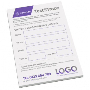 Test and Trace Pad